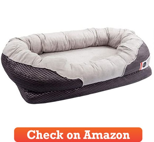 BarksBar Snuggly Sleeper Orthopedic Dog Bed for large dogs