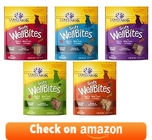 Wellness Wellbites Soft & Chewy Variety Pack to ensure different-flavored treats